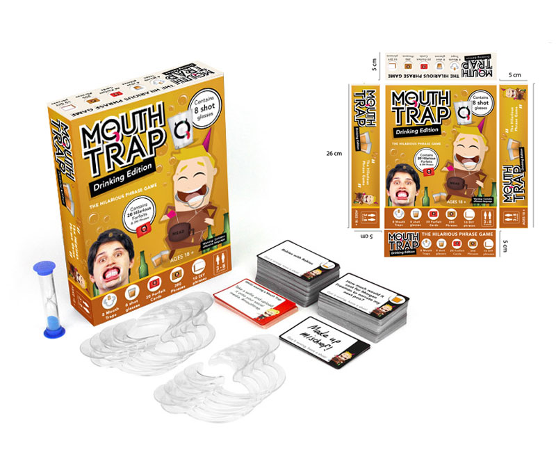 Drinking edition of mouth trap, freelance game design