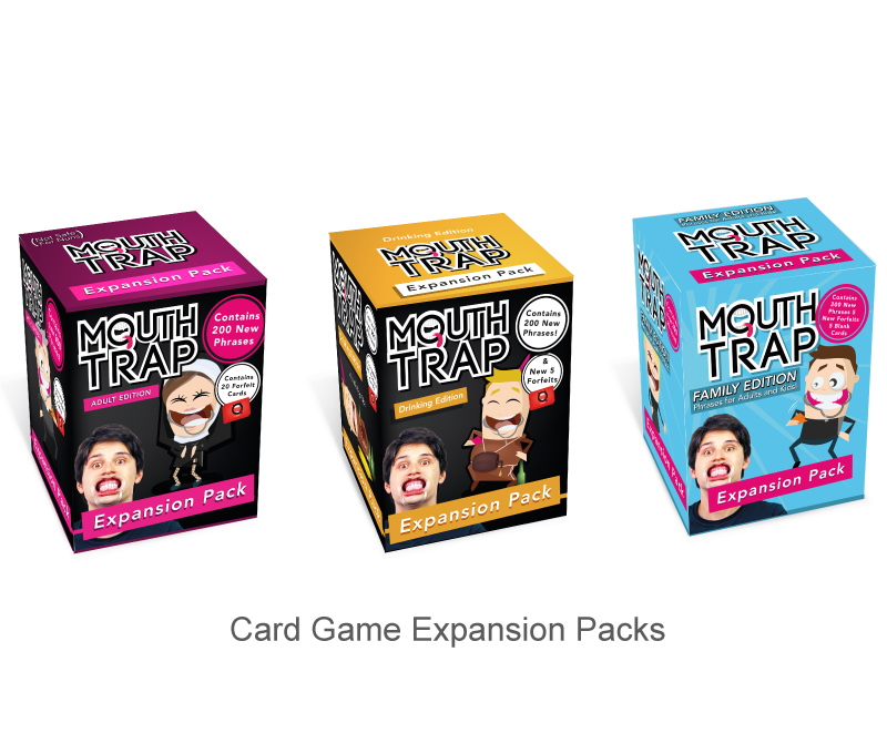 Card Game design expansion back mouthtrap